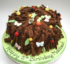 Bugs and Woodland birthday cake
